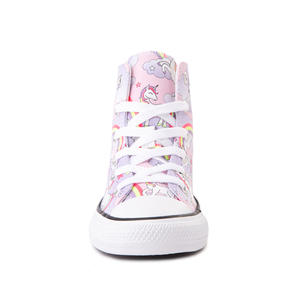 alternate view Converse Chuck Taylor All Star Hi Unicorn Rainbow Sneaker - Little Kid / Big Kid - Pink FoamALT4