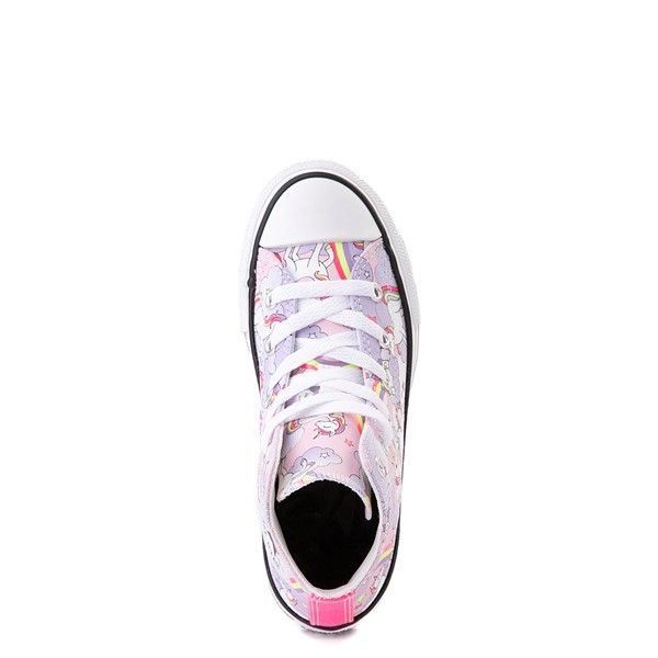 alternate view Converse Chuck Taylor All Star Hi Unicorn Rainbow Sneaker - Little Kid / Big Kid - Pink FoamALT4B