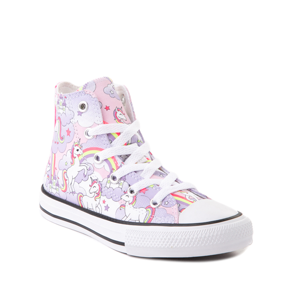 alternate view Converse Chuck Taylor All Star Hi Unicorn Rainbow Sneaker - Little Kid / Big Kid - Pink FoamALT5