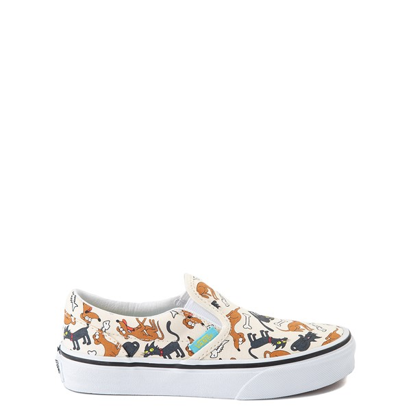Main view of Vans x The Simpsons Slip On Family Pets Skate Shoe - Little Kid - Natural