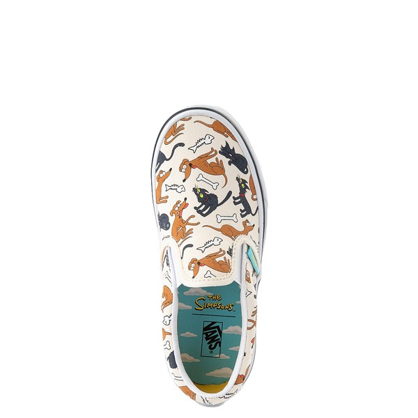 alternate view Vans x The Simpsons Slip On Family Pets Skate Shoe - Little Kid - NaturalALT2