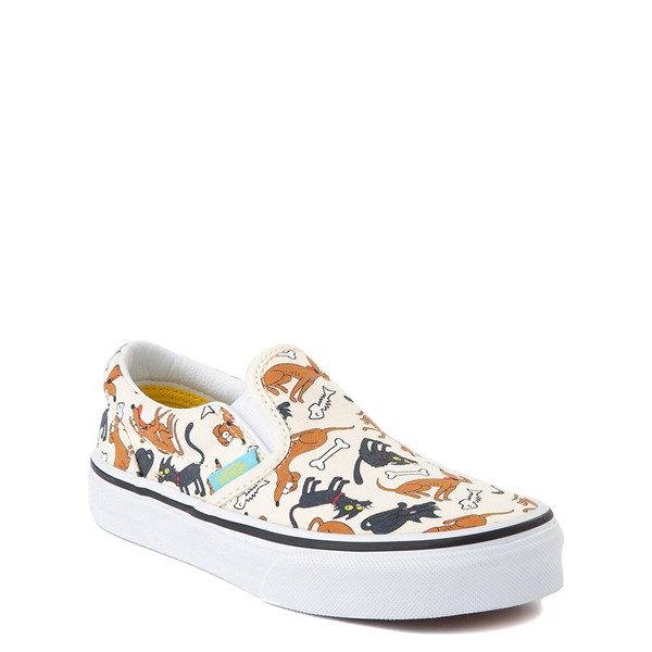 alternate view Vans x The Simpsons Slip On Family Pets Skate Shoe - Little Kid - NaturalALT5