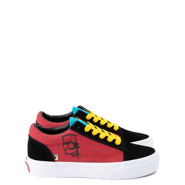 Main view of Vans x The Simpsons Old Skool El Barto Skate Shoe - Little Kid - Black / Red