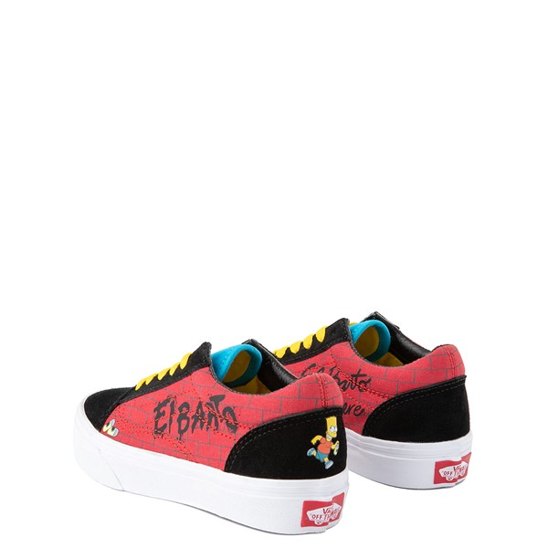 alternate view Vans x The Simpsons Old Skool El Barto Skate Shoe - Little Kid - Black / RedALT1