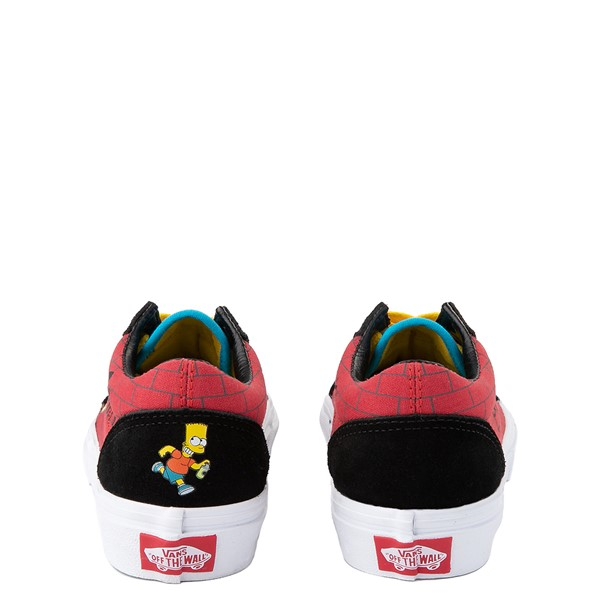 alternate view Vans x The Simpsons Old Skool El Barto Skate Shoe - Little Kid - Black / RedALT4