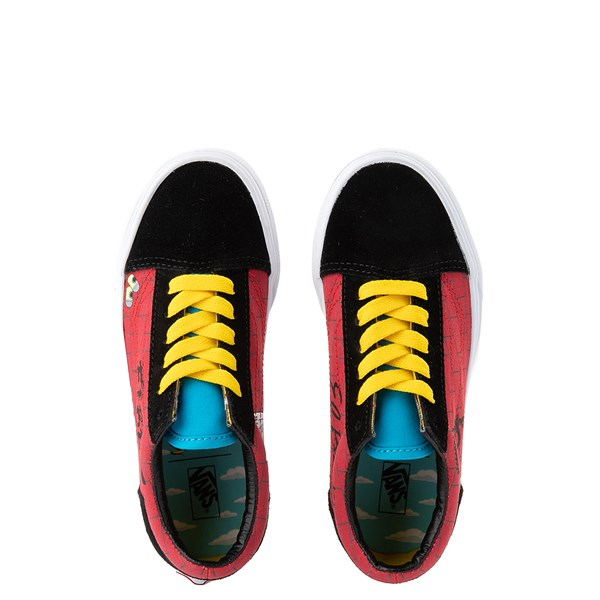 alternate view Vans x The Simpsons Old Skool El Barto Skate Shoe - Little Kid - Black / RedALT4B