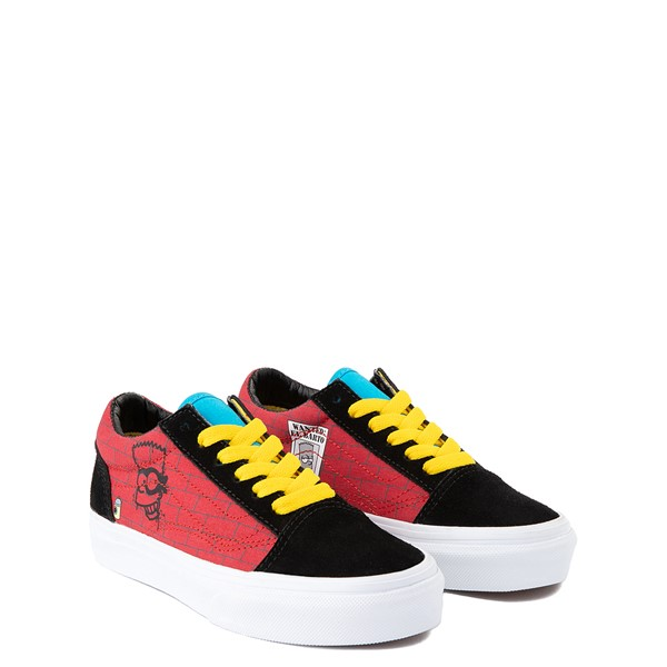 alternate view Vans x The Simpsons Old Skool El Barto Skate Shoe - Little Kid - Black / RedALT5