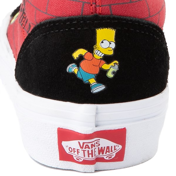 alternate view Vans x The Simpsons Old Skool El Barto Skate Shoe - Little Kid - Black / RedALT7
