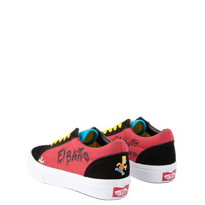 Alternate view of Vans x The Simpsons Old Skool El Barto Skate Shoe - Little Kid - Black / Red
