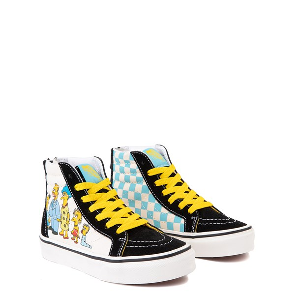 alternate view Vans x The Simpsons Sk8 Hi Zip Simpsons Family 1987-2020 Skate Shoe - Little Kid - BlackALT1