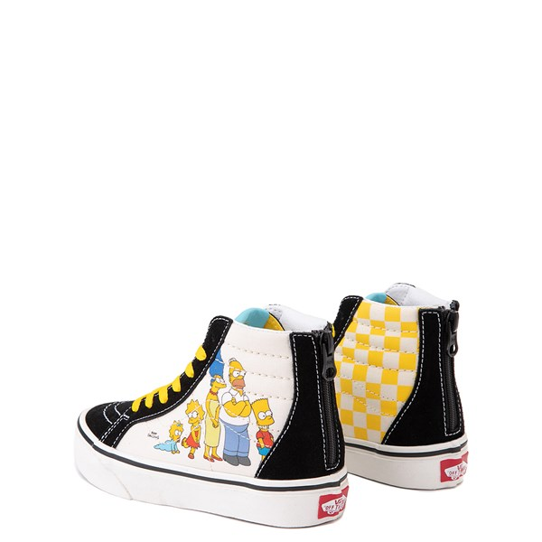 alternate view Vans x The Simpsons Sk8 Hi Zip Simpsons Family 1987-2020 Skate Shoe - Little Kid - BlackALT2