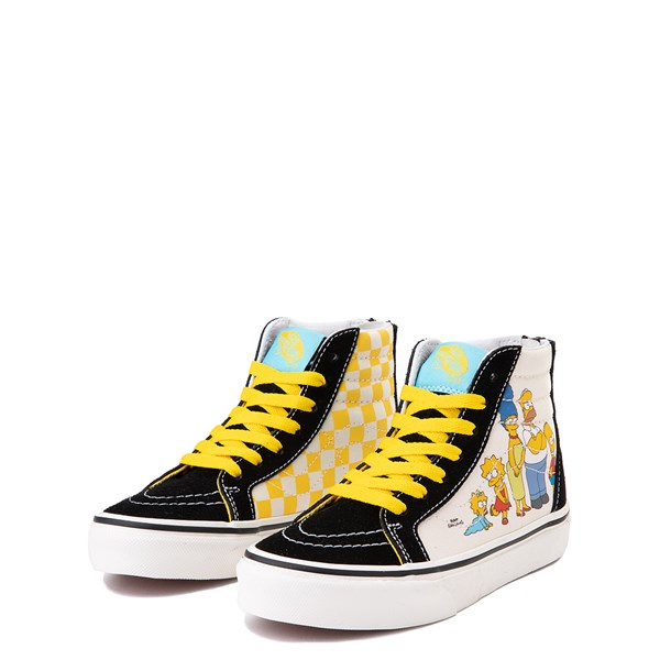 alternate view Vans x The Simpsons Sk8 Hi Zip Simpsons Family 1987-2020 Skate Shoe - Little Kid - BlackALT3