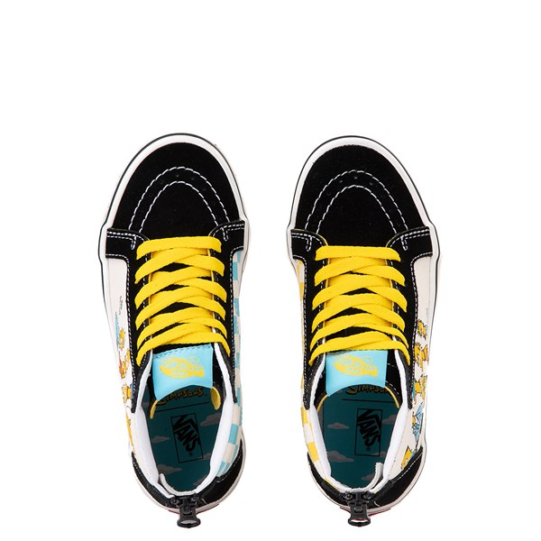 alternate view Vans x The Simpsons Sk8 Hi Zip Simpsons Family 1987-2020 Skate Shoe - Little Kid - BlackALT4B
