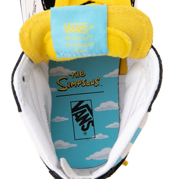 alternate view Vans x The Simpsons Sk8 Hi Zip Simpsons Family 1987-2020 Skate Shoe - Little Kid - BlackALT6