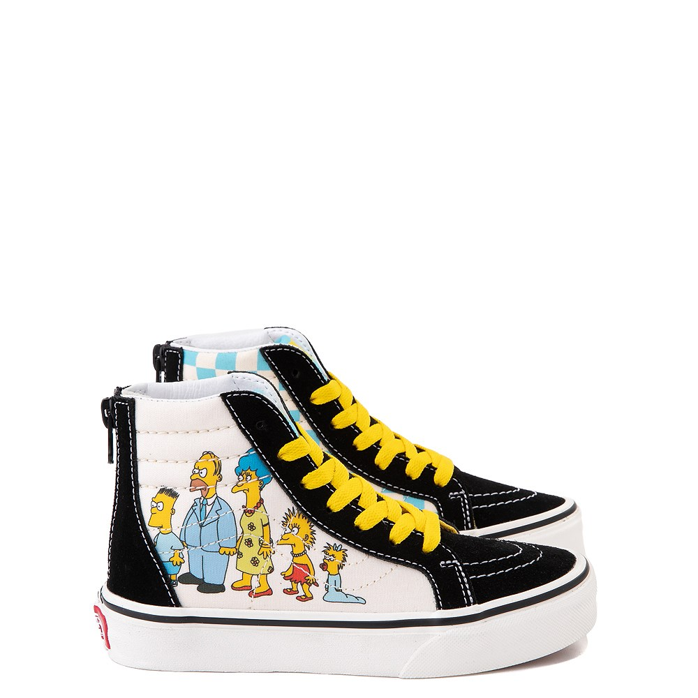 Vans x The Simpsons Sk8 Hi Zip Simpsons Family 1987-2020 Skate Shoe - Little Kid - Black