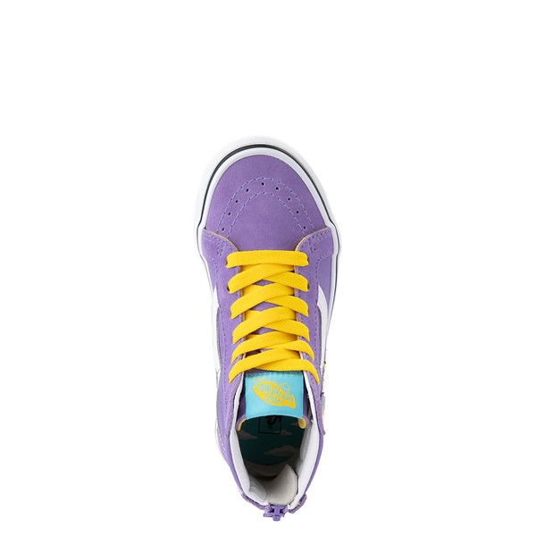 alternate view Vans x The Simpsons Sk8 Hi Zip Lisa For President Skate Shoe - Little Kid - PurpleALT2