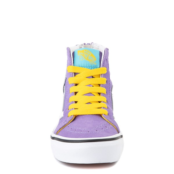 alternate view Vans x The Simpsons Sk8 Hi Zip Lisa For President Skate Shoe - Little Kid - PurpleALT4