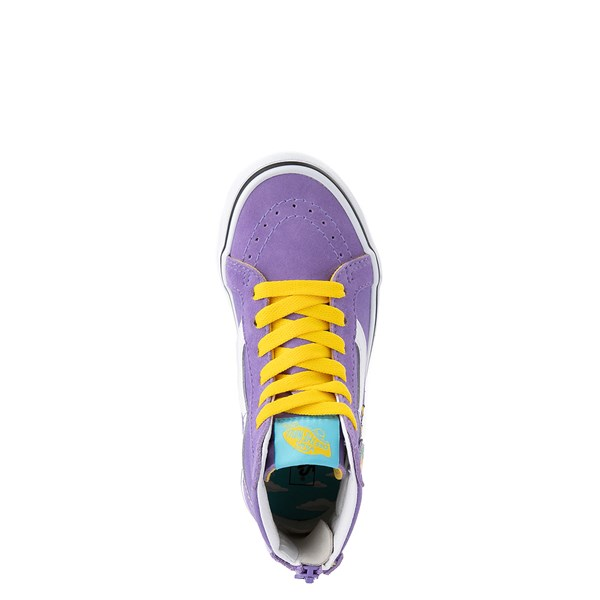 alternate view Vans x The Simpsons Sk8 Hi Zip Lisa For President Skate Shoe - Little Kid - PurpleALT4B