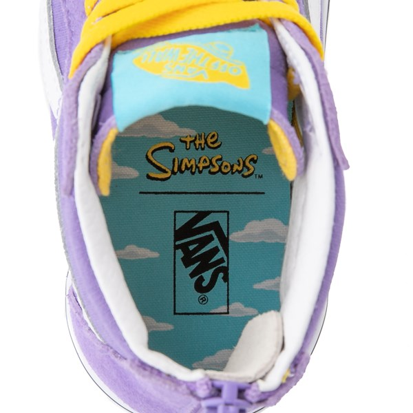 alternate view Vans x The Simpsons Sk8 Hi Zip Lisa For President Skate Shoe - Little Kid - PurpleALT6