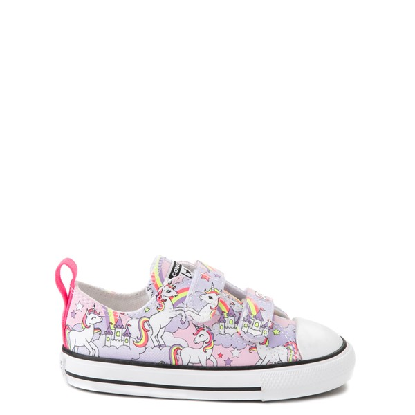 Main view of Converse Chuck Taylor All Star 2V Unicorn Rainbow Lo Sneaker - Baby / Toddler - Pink Foam