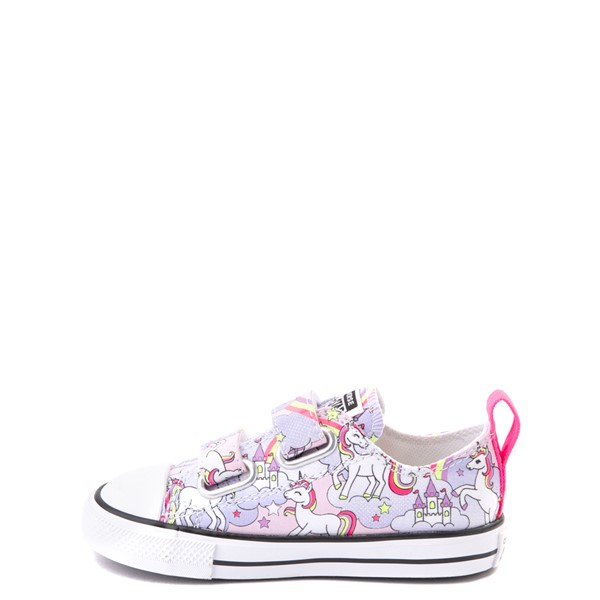 alternate view Converse Chuck Taylor All Star 2V Unicorn Rainbow Lo Sneaker - Baby / Toddler - Pink FoamALT1