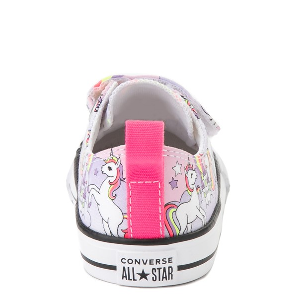 alternate view Converse Chuck Taylor All Star 2V Unicorn Rainbow Lo Sneaker - Baby / Toddler - Pink FoamALT4