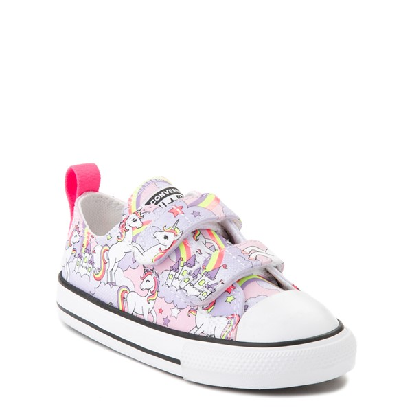 alternate view Converse Chuck Taylor All Star 2V Unicorn Rainbow Lo Sneaker - Baby / Toddler - Pink FoamALT5
