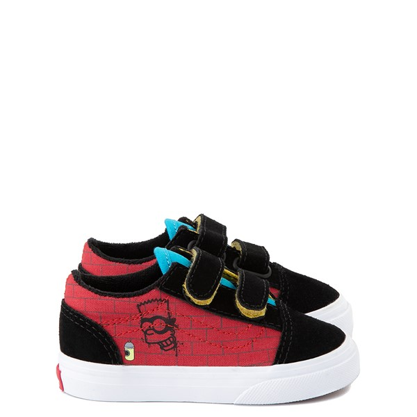 Vans x The Simpsons Old Skool V El Barto Skate Shoe - Baby / Toddler - Black / Red