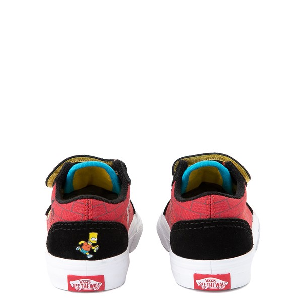 alternate view Vans x The Simpsons Old Skool V El Barto Skate Shoe - Baby / Toddler - Black / RedALT4