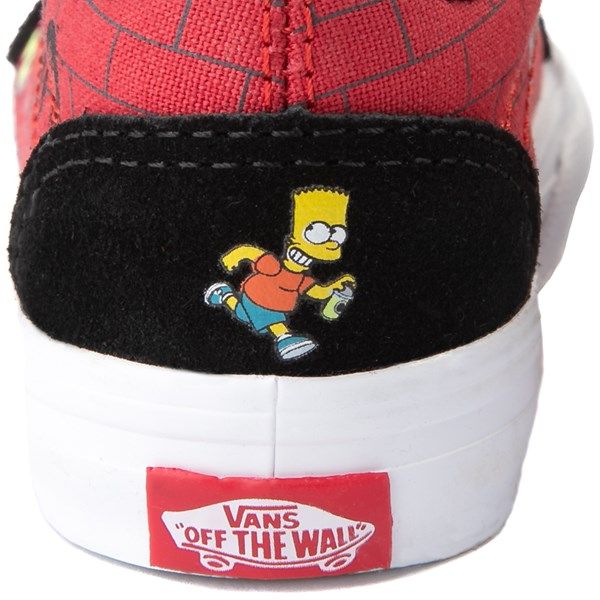 alternate view Vans x The Simpsons Old Skool V El Barto Skate Shoe - Baby / Toddler - Black / RedALT7