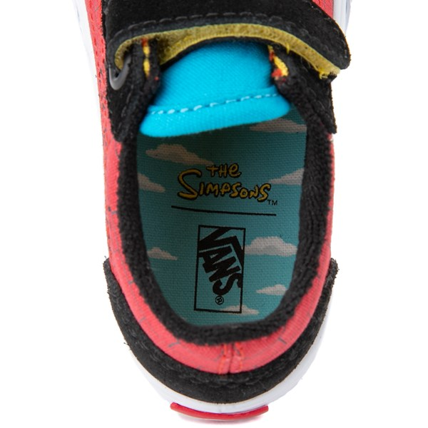 alternate view Vans x The Simpsons Old Skool V El Barto Skate Shoe - Baby / Toddler - Black / RedALT8