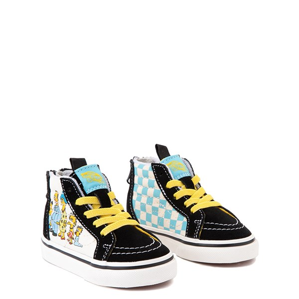 alternate view Vans x The Simpsons Sk8 Hi Zip Simpsons Family 1987-2020 Skate Shoe - Baby / Toddler - BlackALT1