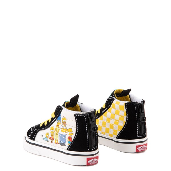 alternate view Vans x The Simpsons Sk8 Hi Zip Simpsons Family 1987-2020 Skate Shoe - Baby / Toddler - BlackALT2