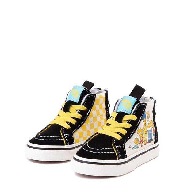 alternate view Vans x The Simpsons Sk8 Hi Zip Simpsons Family 1987-2020 Skate Shoe - Baby / Toddler - BlackALT3