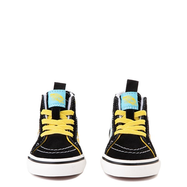 alternate view Vans x The Simpsons Sk8 Hi Zip Simpsons Family 1987-2020 Skate Shoe - Baby / Toddler - BlackALT4
