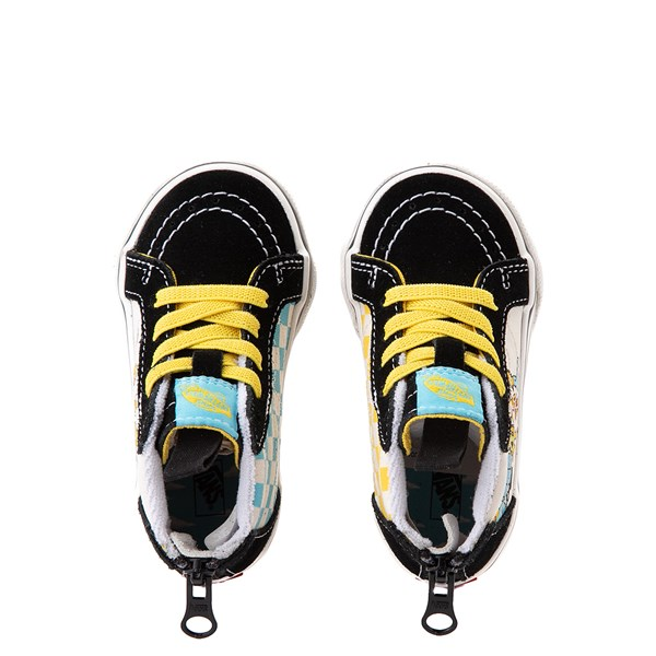 alternate view Vans x The Simpsons Sk8 Hi Zip Simpsons Family 1987-2020 Skate Shoe - Baby / Toddler - BlackALT4B