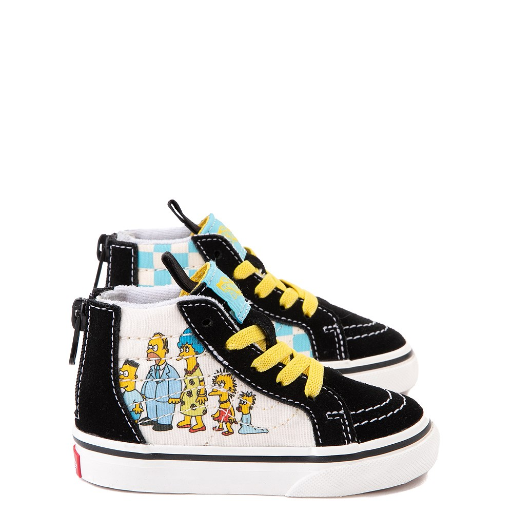 Vans x The Simpsons Sk8 Hi Zip Simpsons Family 1987-2020 Skate Shoe - Baby / Toddler - Black