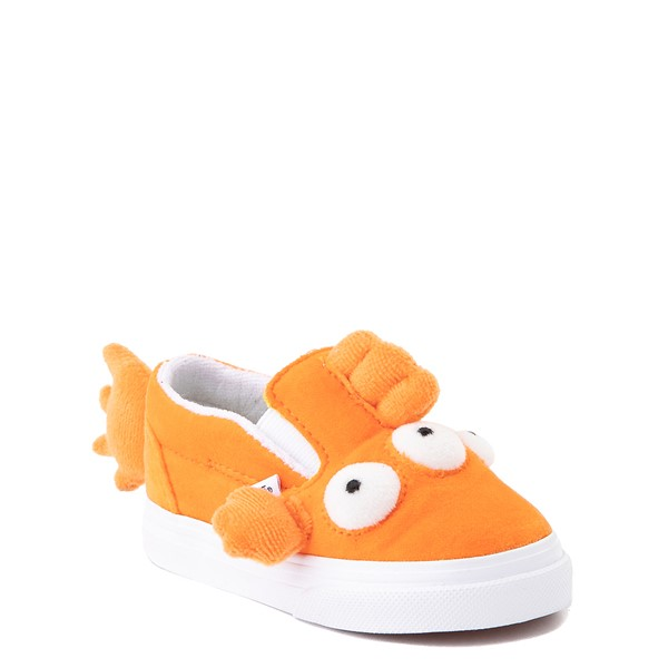 alternate view Vans x The Simpsons Slip On V Blinky Skate Shoe - Baby / Toddler - OrangeALT1