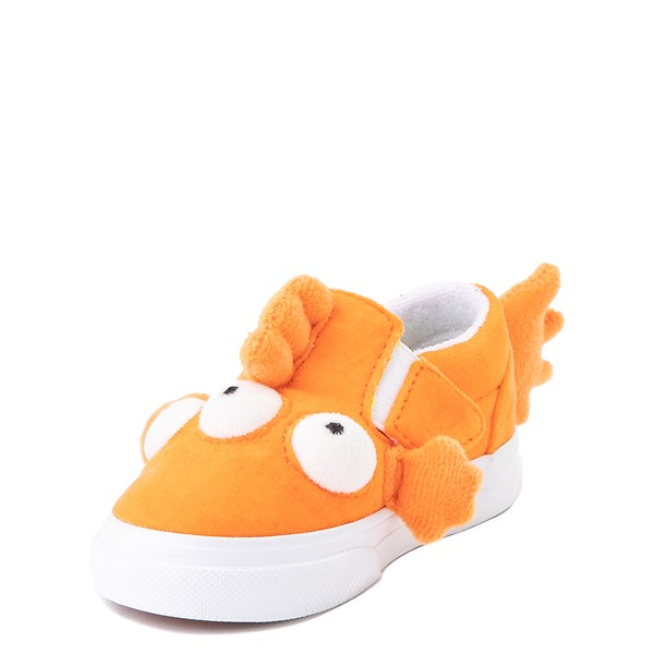 alternate view Vans x The Simpsons Slip On V Blinky Skate Shoe - Baby / Toddler - OrangeALT3