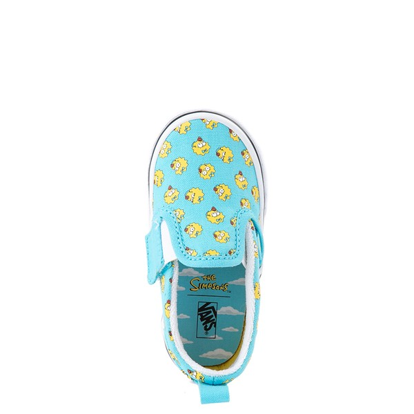 alternate view Vans x The Simpsons Slip On V Maggie Skate Shoe - Baby / Toddler - Baby BlueALT2