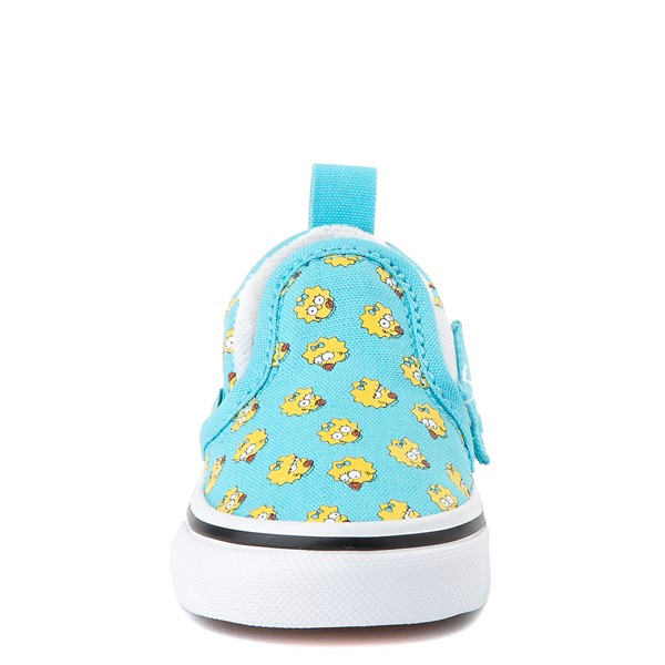 alternate view Vans x The Simpsons Slip On V Maggie Skate Shoe - Baby / Toddler - Baby BlueALT4