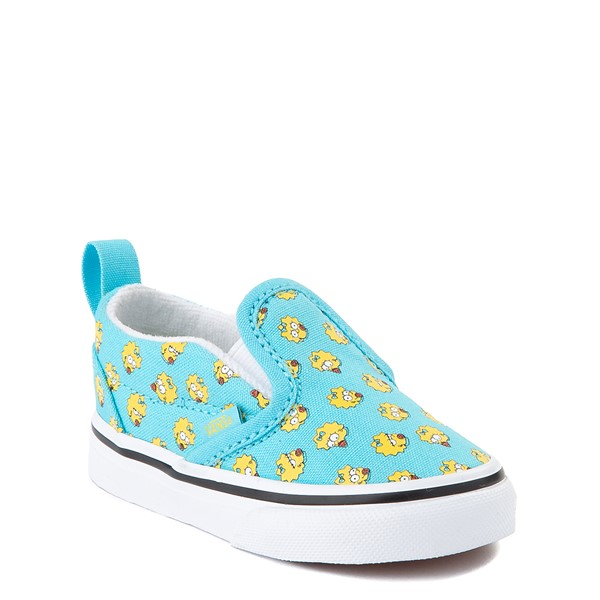 alternate view Vans x The Simpsons Slip On V Maggie Skate Shoe - Baby / Toddler - Baby BlueALT5
