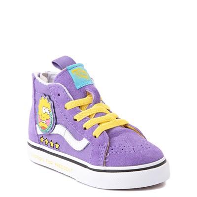 Alternate view of Vans x The Simpsons Sk8 Hi Zip Lisa For President Skate Shoe - Baby / Toddler - Purple
