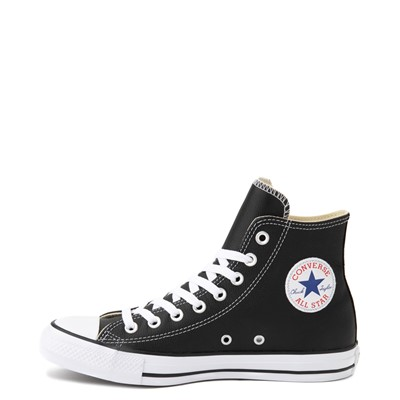 Alternate view of Converse Chuck Taylor All Star Hi Leather Sneaker - Black