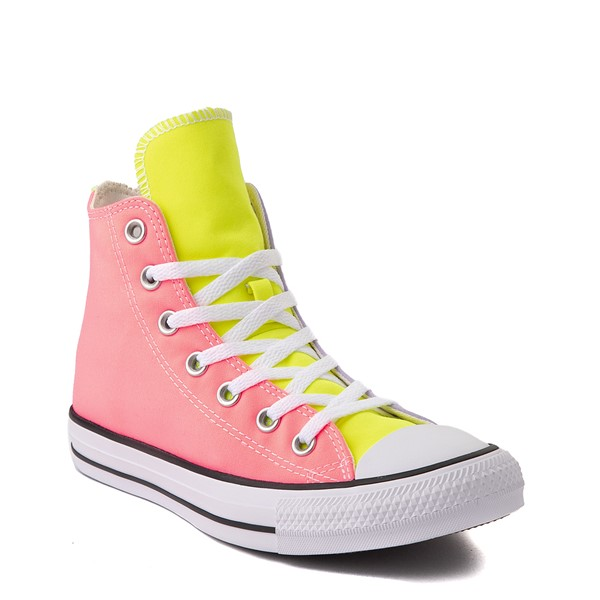 alternate view Converse Chuck Taylor All Star Hi Sneaker - Neon Color-BlockALT1B