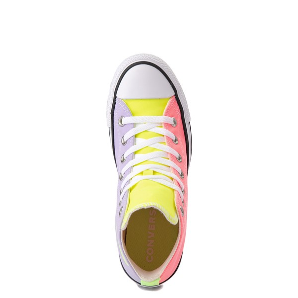 alternate view Converse Chuck Taylor All Star Hi Sneaker - Neon Color-BlockALT4B