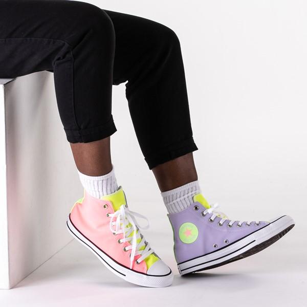 alternate view Converse Chuck Taylor All Star Hi Sneaker - Neon Color-BlockB-LIFESTYLE1