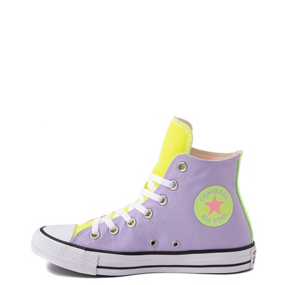 Alternate view of Converse Chuck Taylor All Star Hi Sneaker - Neon Color-Block