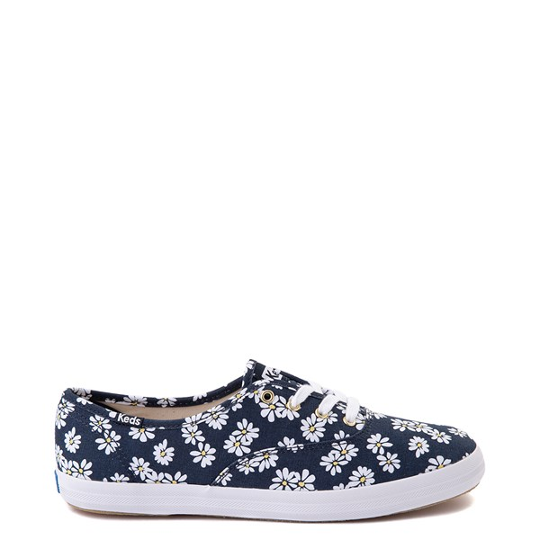 Womens Keds Champion Original Casual Shoe - Navy/Floral
