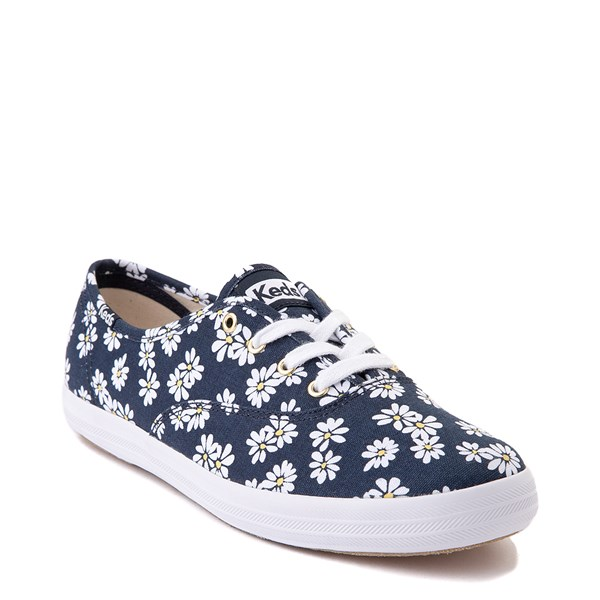 alternate view Womens Keds Champion Original Casual Shoe - Navy/FloralALT1